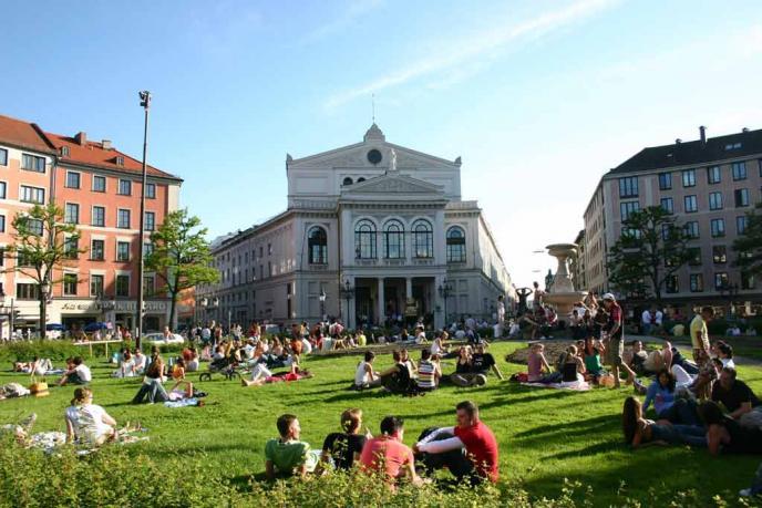 Gärtnerplatz mit Gärtnerplatztheater