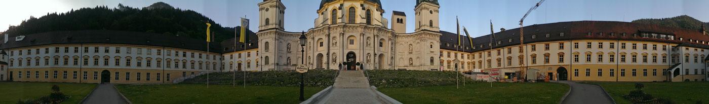 Panoramaansicht Kloster Ettal