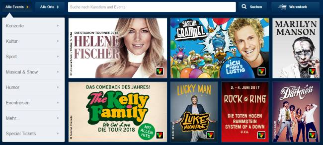 Konzertkarten, Tickets für Events, Veranstaltungen & Festivals in München