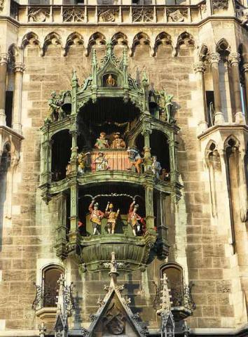 Glockenspiel im neuen Rathaus München