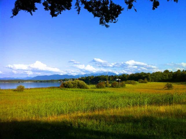 Starnberger See mit Blick auf Seeshaupt
