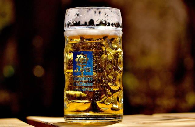 Augustiner Bier im Augustiner Biergarten