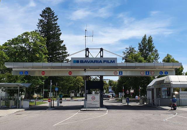 Haupteingang zum Bavaria Filmstudios München
