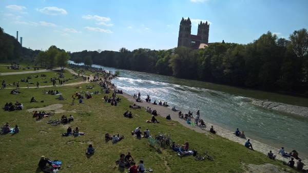Isar München Reichenbachbrücke