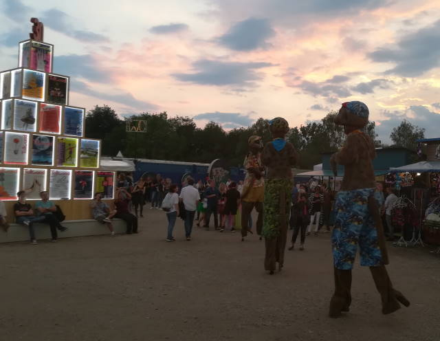 Kunst auf dem Tolllwood Sommerfestival