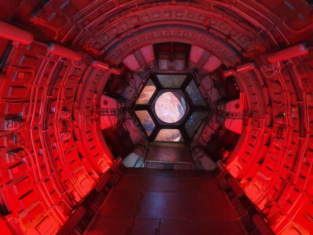 Raumschiffkulisse aus dem Film Stowaway